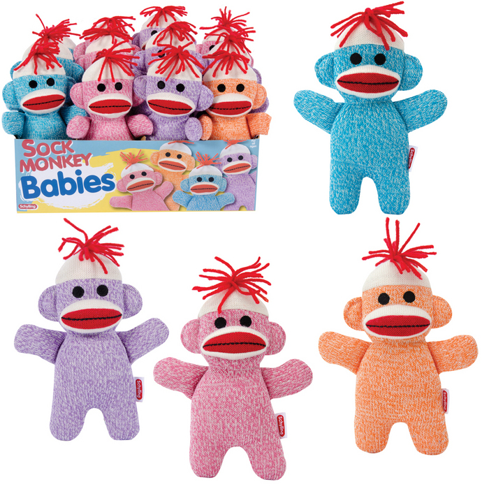 Sock Monkey Baby (Sold Individually - Colors Vary)