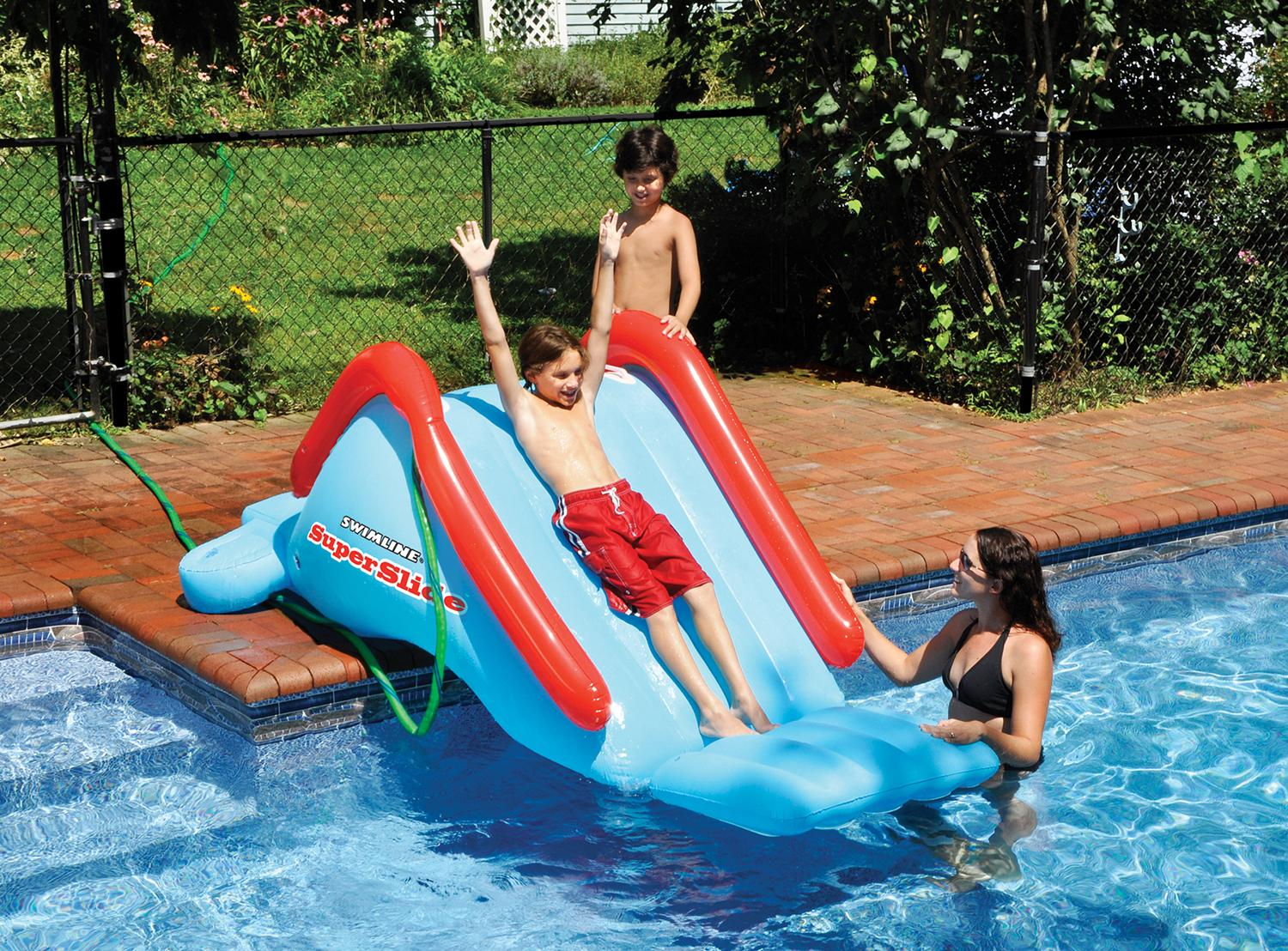 Blue and Red Water Sports Inflatable Super Slide Swimming Pool Toy, 94-Inch by Swim Central