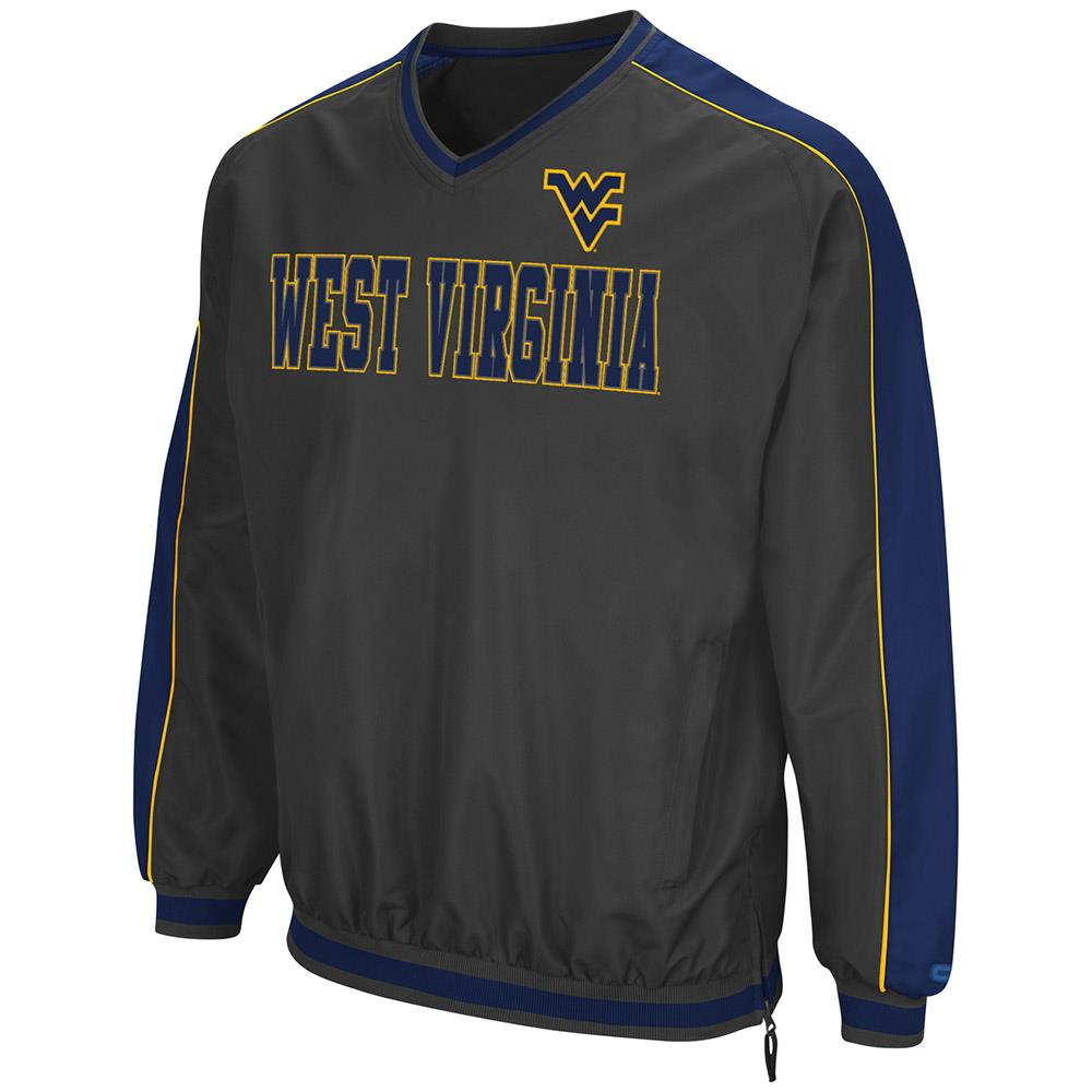 Mens West Virginia Mountaineers Attack Line Wind Breaker Jacket by Colosseum