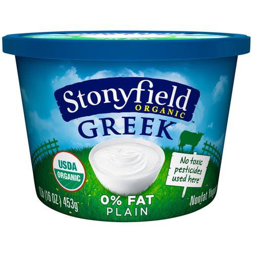 Stonyfield Organic 0% Fat Smooth & Creamy Plain Greek Yogurt, 16 oz