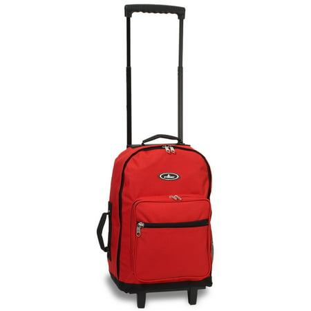 Everest Wheeled Backpack, Red/Black, Standard