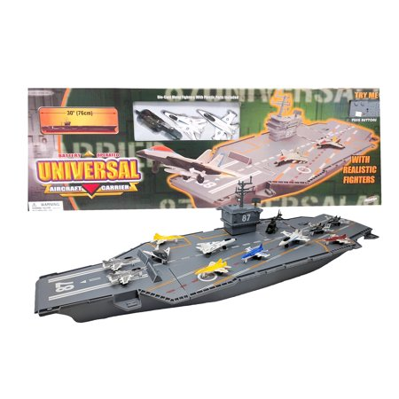 """30"""" Aircraft Carrier with Sound Effects and Fighter Jets"""