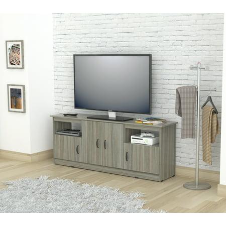 Inval Modern Smoke Oak Contemporary TV - Contemporary Oak Tv Stand