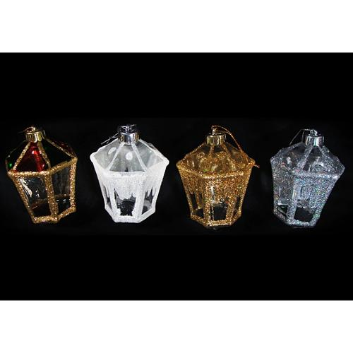 Club Pack of 288 Victorian Inspirations Glitter Lantern Christmas Ornaments 4