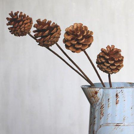 Pine Cone Craft (AkoaDa 1/2X Pine Cone Stems Craft Cards Wreath Making Cake Decorating Home Decorate)