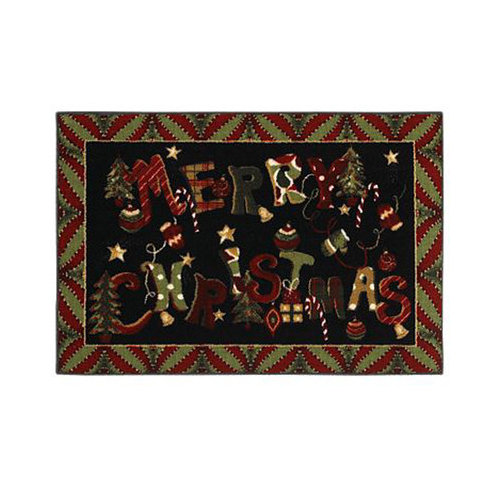 Shaw Rugs Home for the Holidays Merry Jumble Novelty Rug