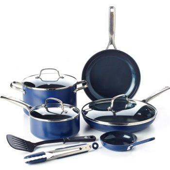 10-Piece Blue Diamond Ultimate Value Cookware Set