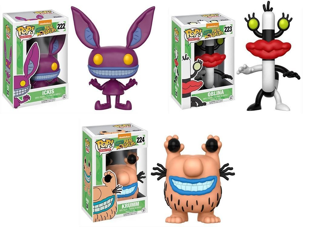 Funko ! Nickelodeon Aaahh!!! Real Monsters: Ickis + Oblina + Krumm Set From Nickelodeon... by