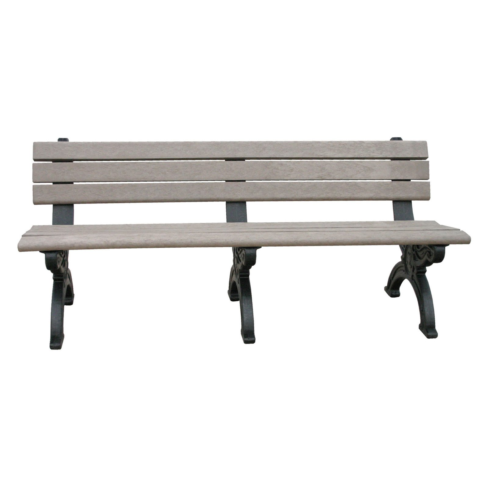 Polly Products Silhouette Recycled Plastic Backed Bench
