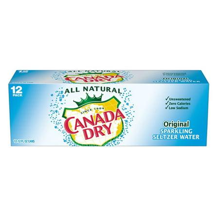 Canada Dry Original Sparkling Seltzer W A T E R 12 Oz Cans   Pack Of 24