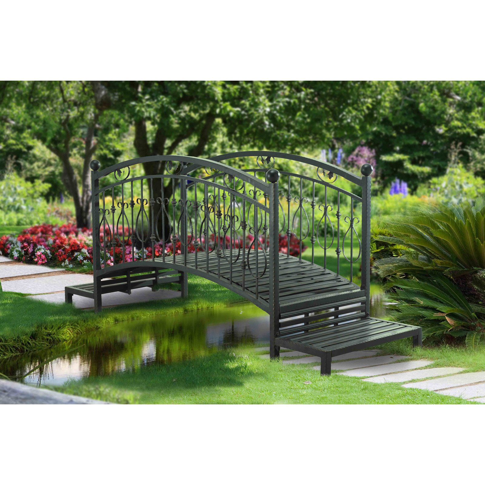 "Sunjoy 110317001 Garden Bridge, 90"" x 32"" x 42"""