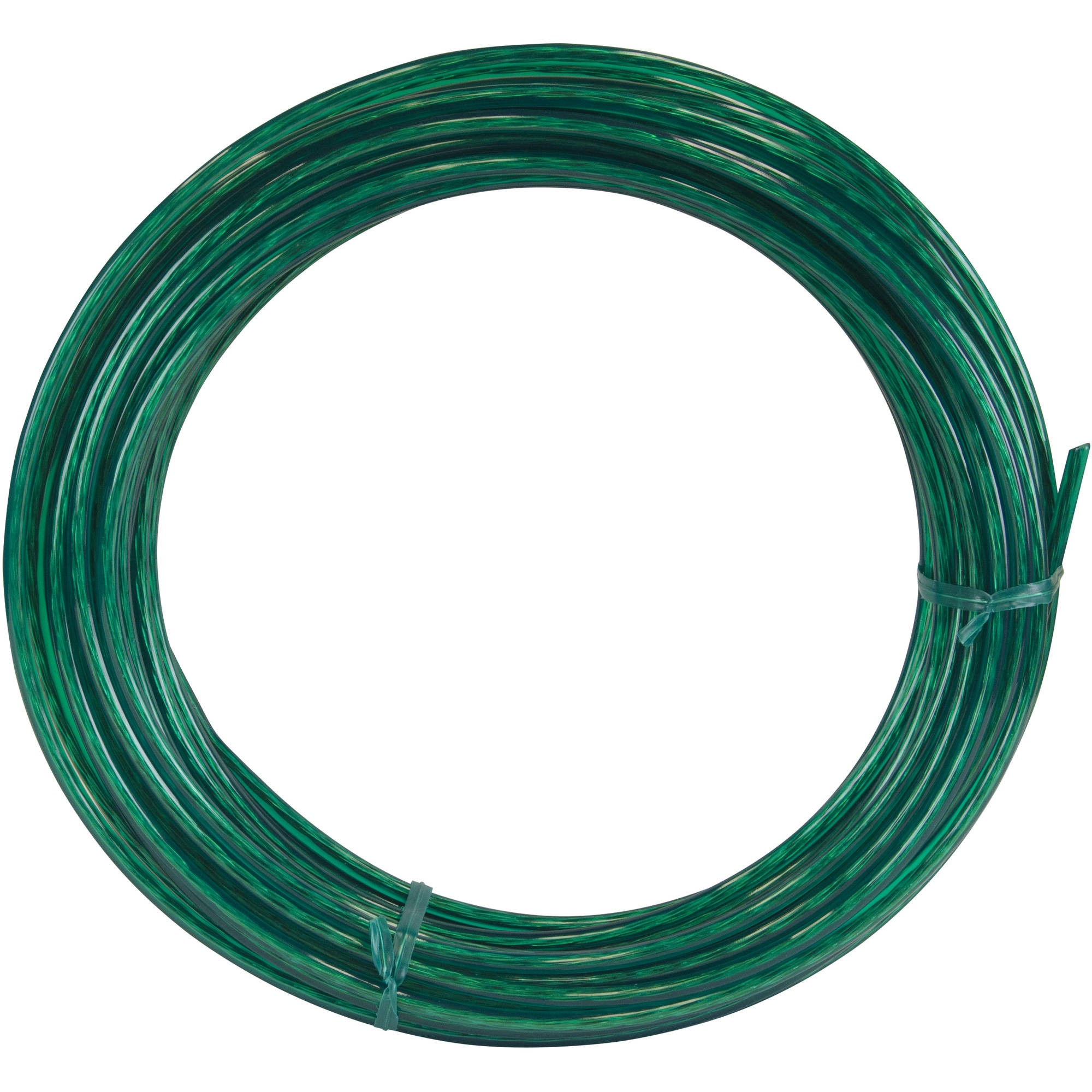 50' Green Vinyl Coated Clothesline Wire