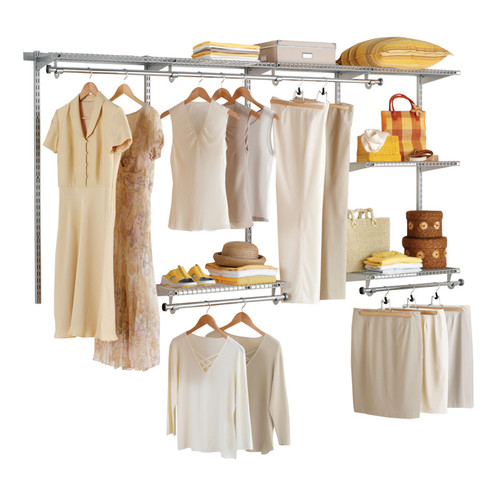Rubbermaid Configurable 4' to 8' Closet Kit, Titanium
