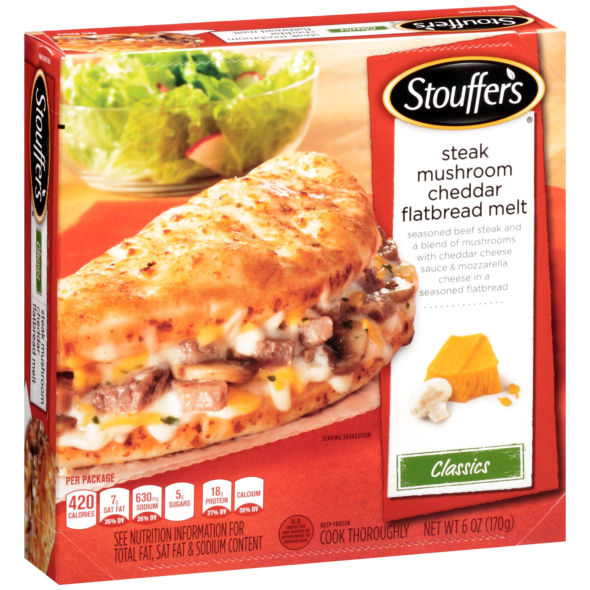 STOUFFER'S Classics Steak Mushroom Cheddar Flatbread Melt 6 oz. Box