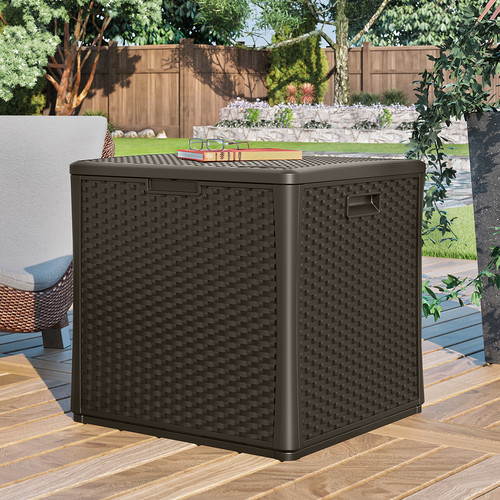 Suncast Cube 60 Gallon Plastic Deck Box by