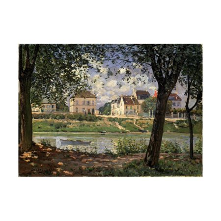 Villeneuve-La-Garenne (Village on the Sein), 1872 Print Wall Art By Alfred (Alfred Gockel Art)