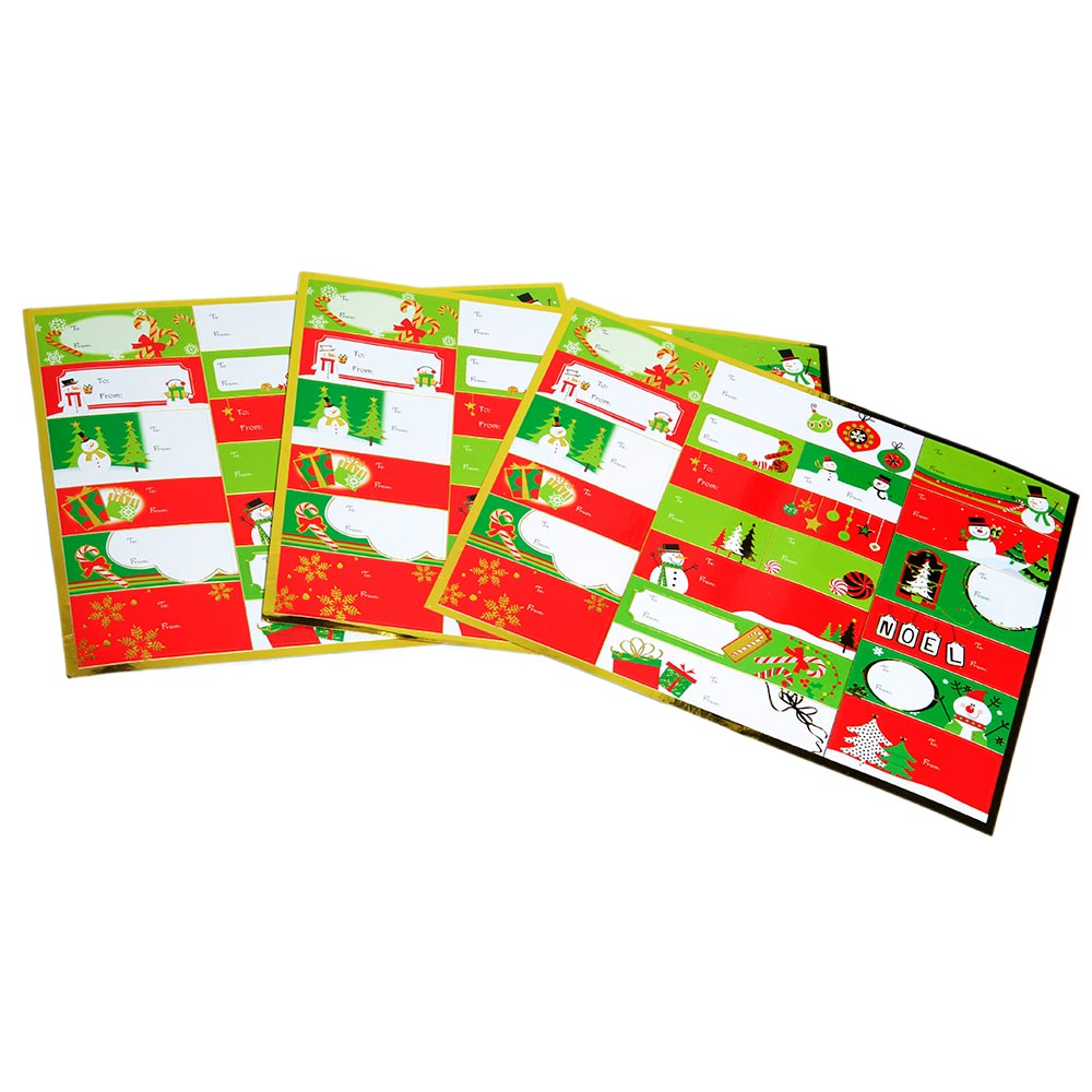 Foil Christmas Gift Tag Stickers