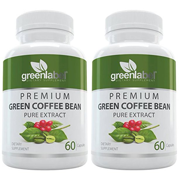 2 Pack Pack Green Coffee Bean Extract Weight Loss Supplement