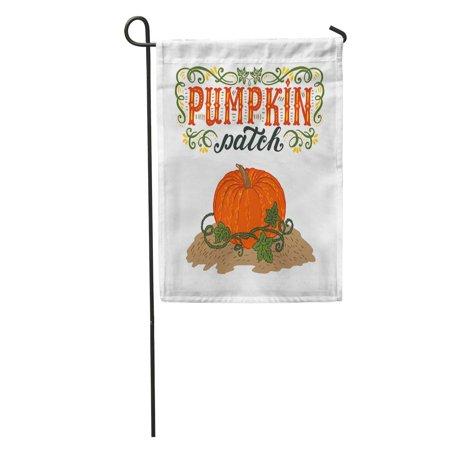 LADDKE Text Pumpkin Patch Halloween Hand Lettering and Sign Vintage Farm Fresh Advertise Garden Flag Decorative Flag House Banner 28x40 inch - Advertising Halloween
