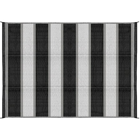 Reversible Patio Mat Racing (Camco 6' x 9' Reversible RV Outdoor Mat, Camping Mat, Charcoal)