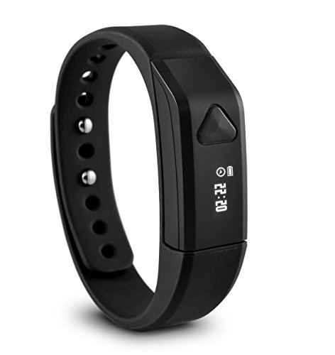 Ematic Trackband Smart Band - Wrist - Pedometer - Alarm - Calories Burned - Bluetooth - Bluetooth 4.0 - Black - Tracking, Health & Fitness, Communication - Water Resistant (sb312bl)