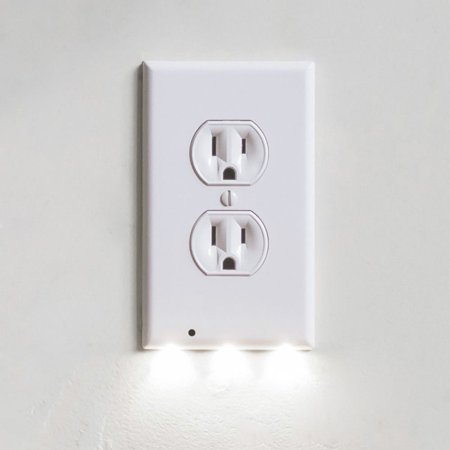 Itechdeals Gear Wall Outlet Coverplate W Led Night Lights Auto On Off