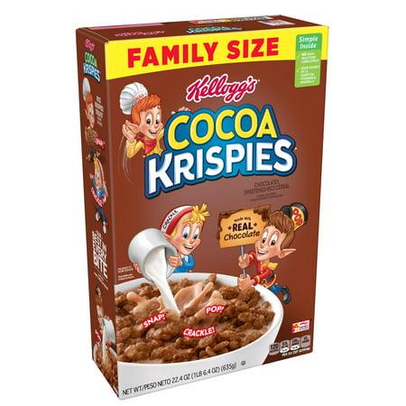 (2 pack) Kellogg's Cocoa Krispies Breakfast Cereal, Original, 22.4 (Best Low Calorie Cereal Uk)