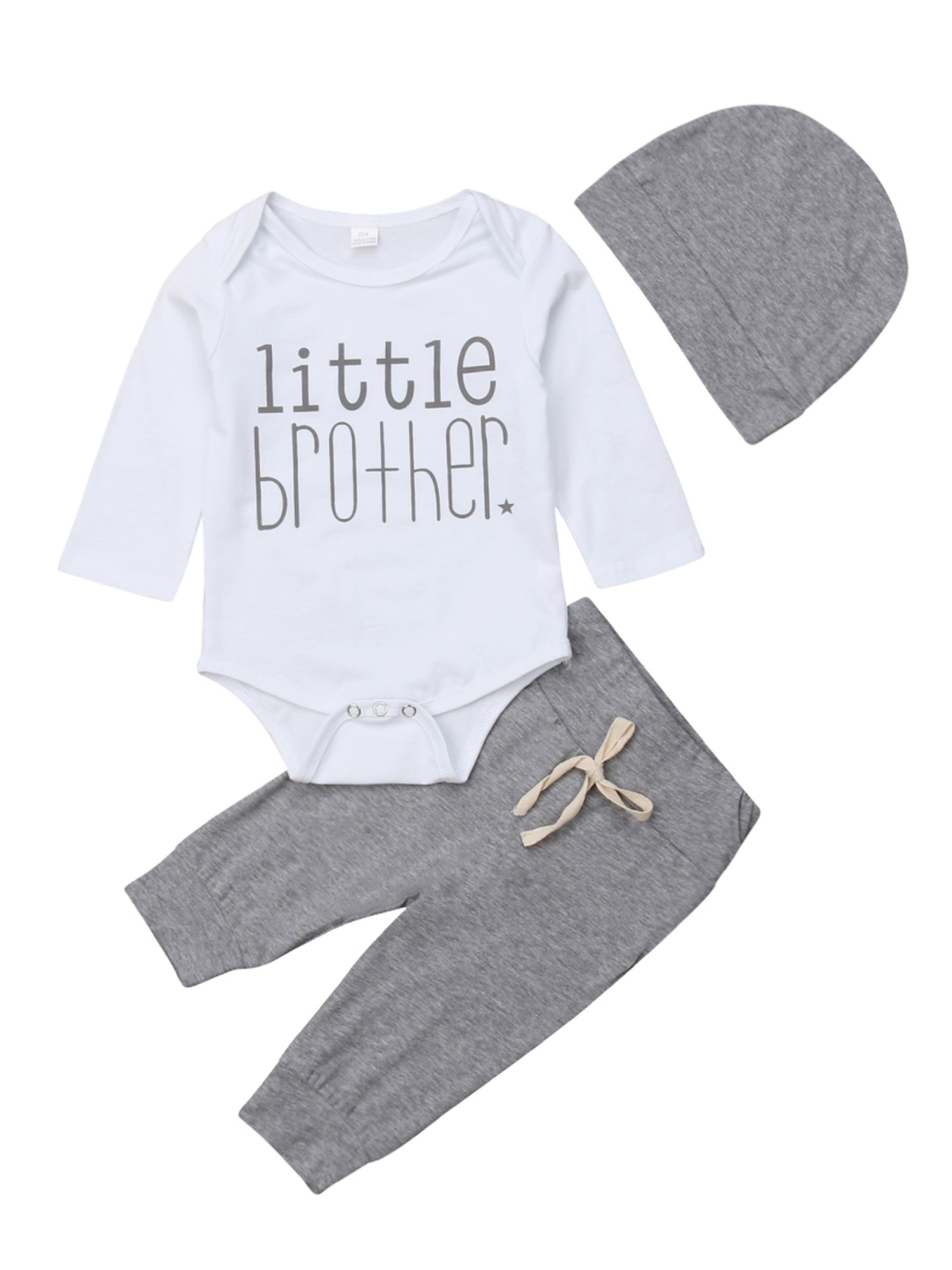 Baby Clothes Set for 0-24 Months 2 Pcs Set Long Sleeves Letter Print Tops Blouse Pants Outfits JYC