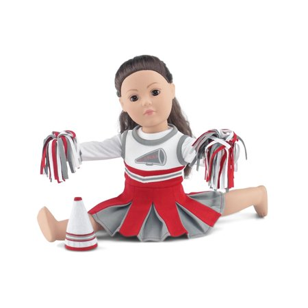 18 Inch Doll Clothes | Amazing Team OSU-Inspired Scarlet and Grey Cheerleading Outfit, Includes Cheerleading Dress, Long Sleeved T-Shirt, Fluffy Pom Poms and Megaphone | Fits American Girl Dolls](Cheerleading Outfits Australia)