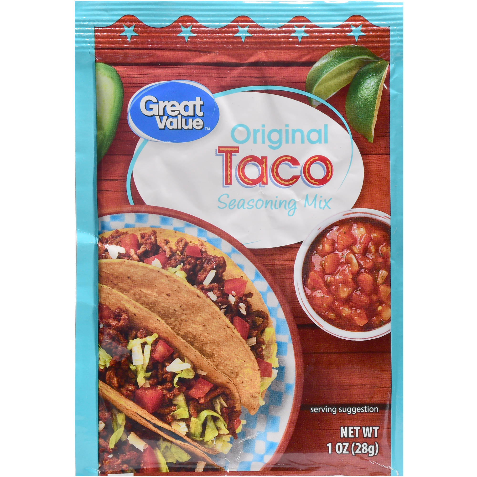 Great Value Taco Seasoning Mix, Original, 1 oz