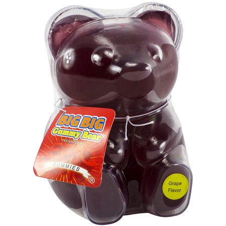 BIG BIG Grape Gummy Bear (13oz)](Gummy Bear Warning Halloween)