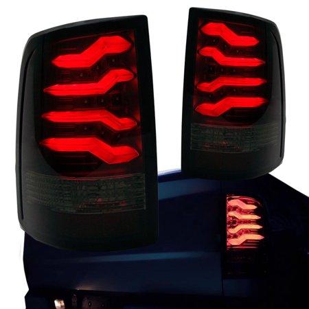 09-17 Dodge Ram 1500 2500 3500 Taillights w/ Smoke Lens Red LED Light Tube