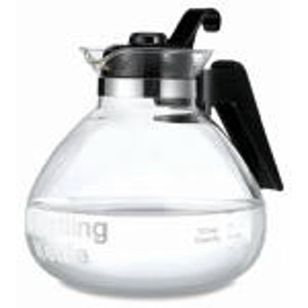 12 Cup Glass Stove Top Whistling Kettle Heat Tolerant Handle
