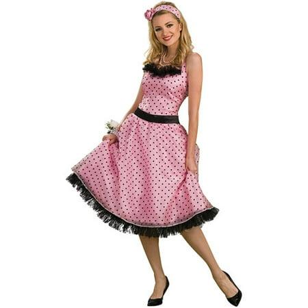 Polka Dot Prom Adult Halloween Costume