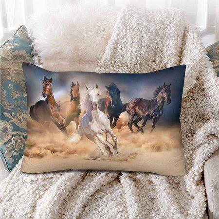 GCKG Horse Herd Desert Storm Dramatic Sky Pillow Cases Pillowcase 20x30 inches - image 1 de 4