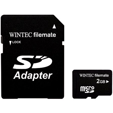 Wintec Filemate 2GB Micro SD Memory Card with SD Adapter - Walmart.com 0f60d963c4