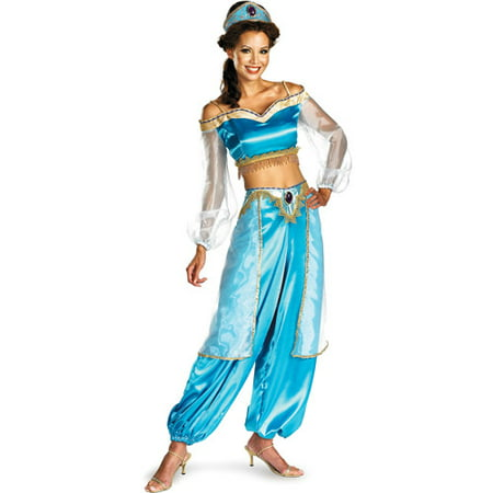 Jasmine Prestige Costume Adult Halloween Costume - Halloween Makeup Princess Jasmine