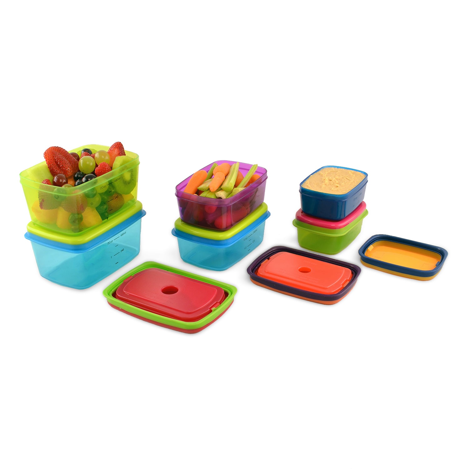 Fit & Fresh Kids' 14 Piece Leak-Proof Lunch Container Set 857KFF
