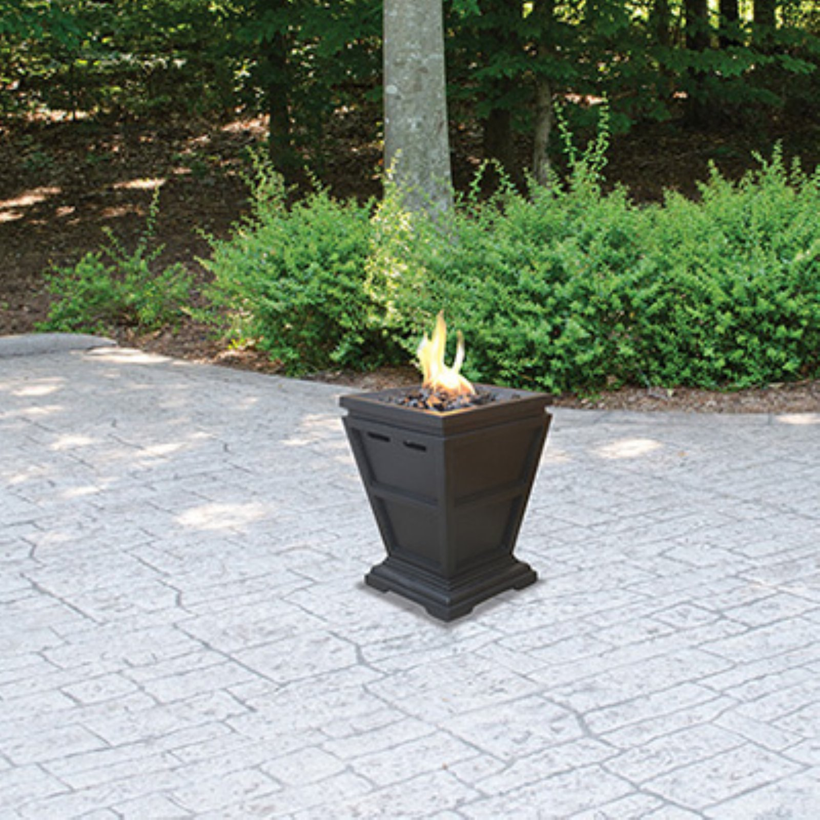 UniFlame LP Gas Fire Pit Tabletop Column