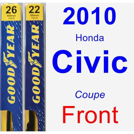 2010 Honda Civic Wiper Blade Set/Kit (Front) (2 Blades) - Premium