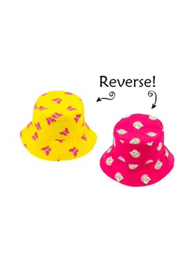 FlapJackKids Reversible Baby Sunhat UPF 50+ X-Small (0 - 6 mo) - Butterfly / Owl