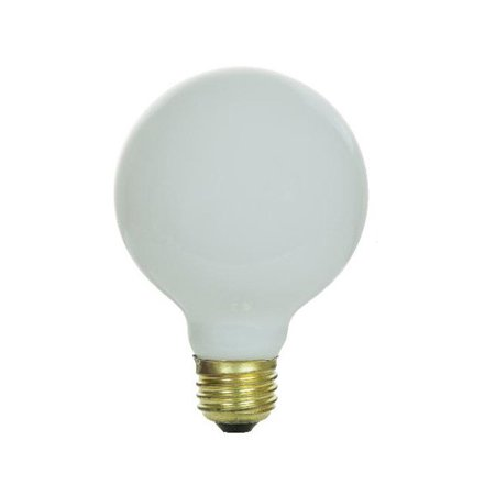 Sunlite 100w 130v Globe G25 E26 White Incandescent Light Bulb