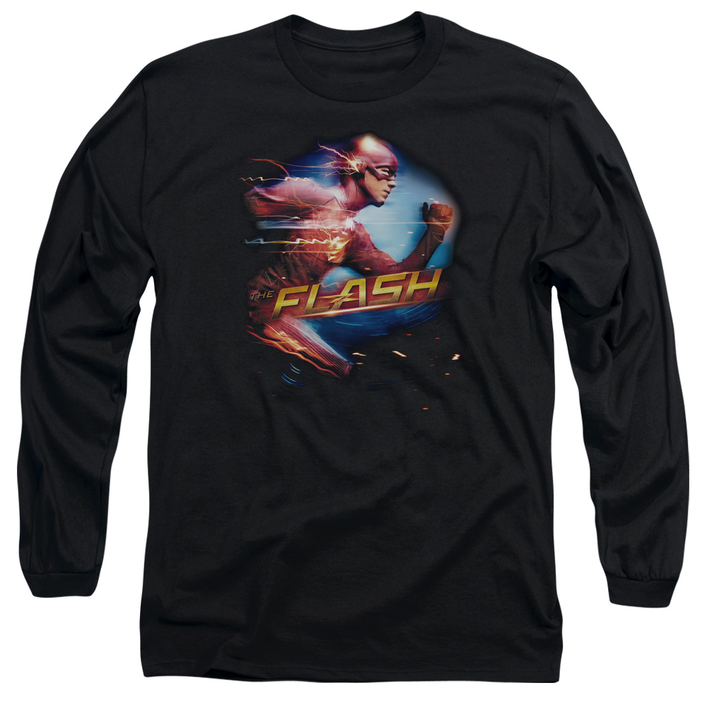 The Flash Fastest Man Mens Long Sleeve Shirt