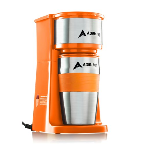 AdirChef Grab and Go Personal Coffee Maker with 15 oz. Travel Mug