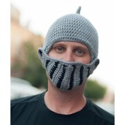 Knitnut By JL Handmade Knight Helmet Beanie with Removable Visor