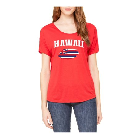 Image of Hawaii State Flag Womens Shirts Slouchy