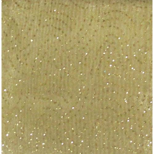 Springs Creative Creative Cuts Glitter Organza, Gold