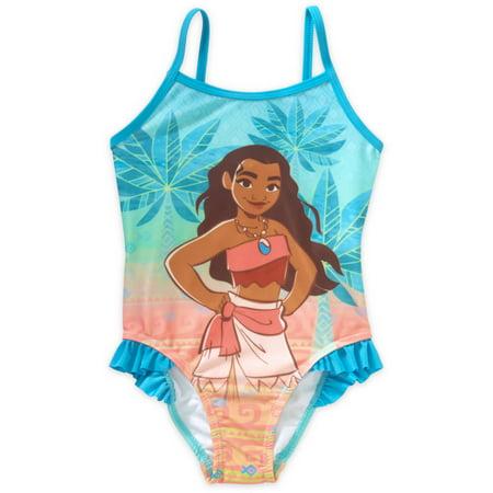 7c8cbc486e1f3 Moana - Toddler Girl Ruffle Detail 1pc Swimsuit - Walmart.com