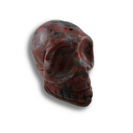 Brecciated Jasper Gemstone (Beautiful Carved Brecciated Jasper Gemstone Skull 25mm 1)