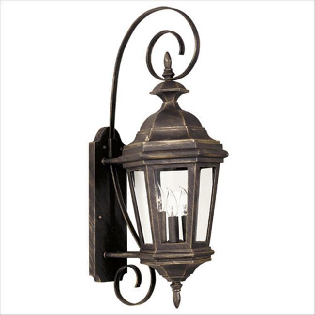 Estate 3 Light Medium Wall Lantern- Antique Patina Finish